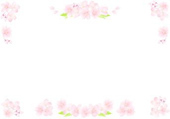 桜の装飾 コーナーフレーム