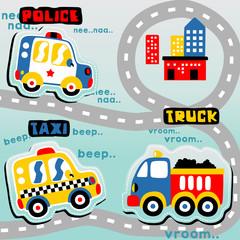 Transportation cartoon