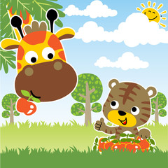 Animals safari cartoon