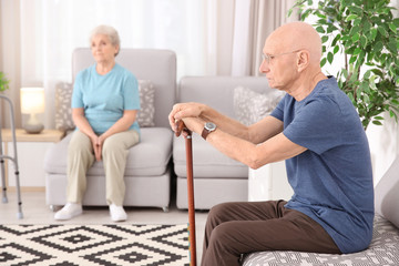 Senior people at home. Elderly care