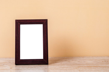 Blank wooden photo frame