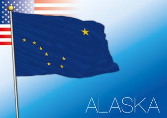Alaska federal state flag, United States