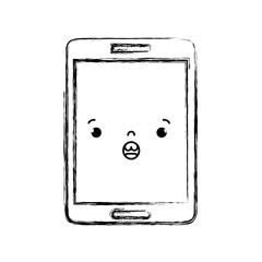 figure kawaii smartphone cute surprised face