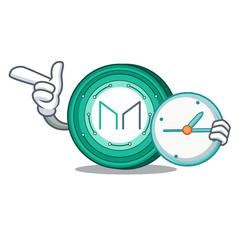 With clock Maker coin character cartoon
