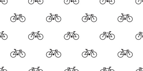 bicycle Seamless Pattern vector cycling isolated wallpaper vintage background