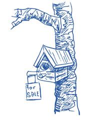 Vogelhuis te koop