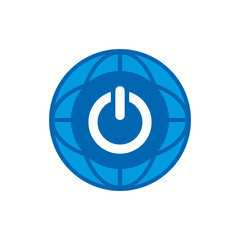 Power World Logo Icon Design