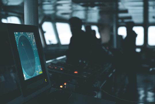 Radar System on a Ship's Bridge