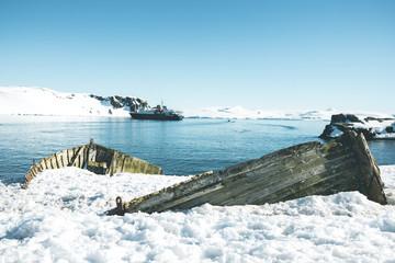 Wooden Shipwreck - Antarctica