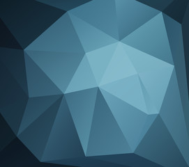 Vector Polygon Abstract modern Polygonal Geometric Triangle Background. Blue tone style.