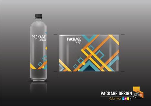 Labels & bottles for drinks, package design, mock up-Vector illustration