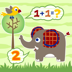 Learn to count with cute animals cartoon
