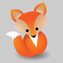 Vector image of a fox design