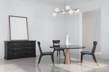 White living room corner, poster