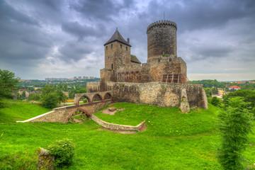 Fotobehang Kasteel Medieval castle in Bedzin at dusk, Poland