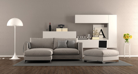 Modern living room with sofa