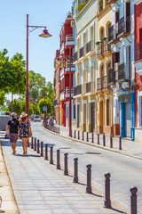Betis Street in Seville, Andalusia, Seville