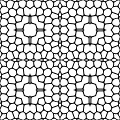 Geometric Shape Pattern. Abstract seamless geometric pattern of black and white. Vector illustration