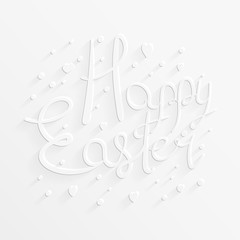 Festive Easter text. Happy holiday congratulatory card