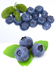 Fresh and delicious blueberries