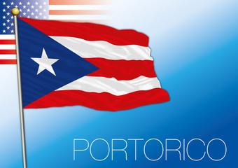 Portorico territorial flag, United States