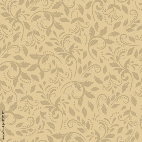 Elegant Ornament In The Baroque Style For Wallpaper Textiles Packaging