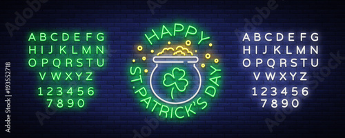 Happy st patricks day vector illustration in neon style neon sign happy st patricks day vector illustration in neon style neon sign greeting card stopboris Choice Image