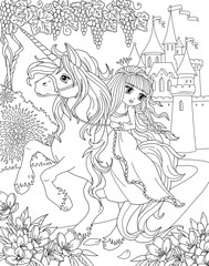 Coloring Page The Lady And Unicorn