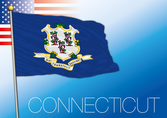 Connecticut federal state flag, United States