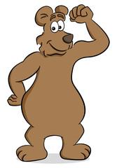 starker Cartoon Bär