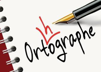 orthographe - mot - écriture - écrire - difficile - apprendre - éducation - école - enseignement