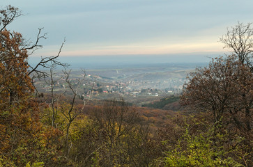 View at valley from Fruska Gora mountain, Serbia