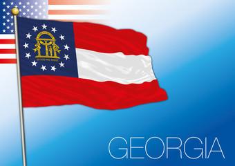 Georgia federal state flag, United States