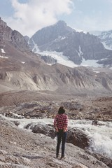 Woman standing near river