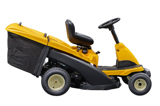 garden lawn mower isolated on white background