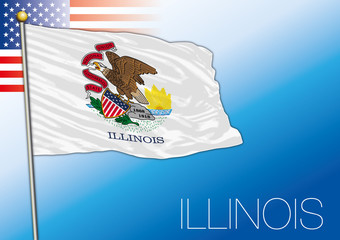 Illinois federal state flag, United States