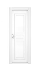 White door isolated on white background. 3d illustration