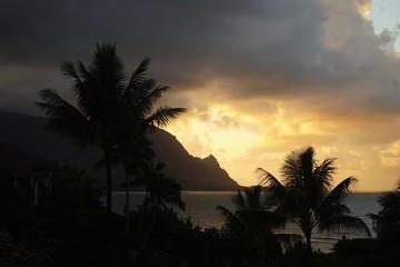 Sonnenuntergang an der Hanalei Bay