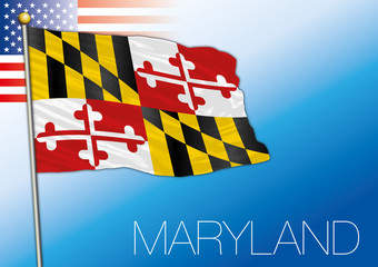 Maryland federal state flag, United States