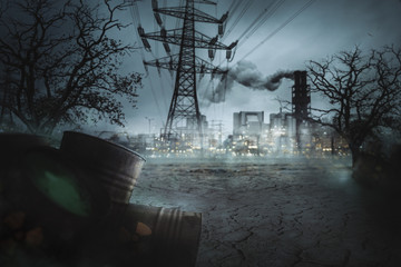 Fabrik - Atomkraftwerk - Atommüll