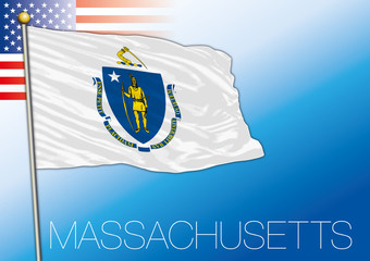 Massachusetts federal state flag, United States