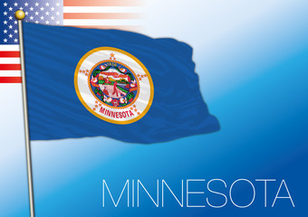 Minnesota federal state flag, United States