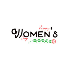Happy women's day. Minimalist design - badge, sticker, for gifts for the spring holiday, for postcards, corporate styles, for sales
