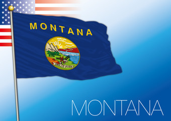 Montana federal state flag, United States