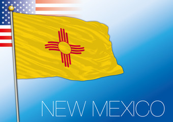 New Mexico federal state flag, United States