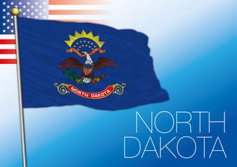 North Dakota federal state flag, United States