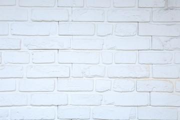 Fototapeta Fragment ściany z białej cegieły, tekstura, tło