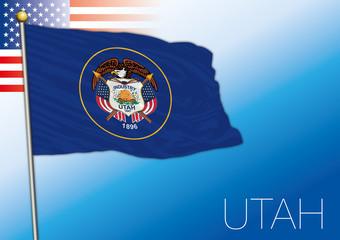 Utah federal state flag, United States