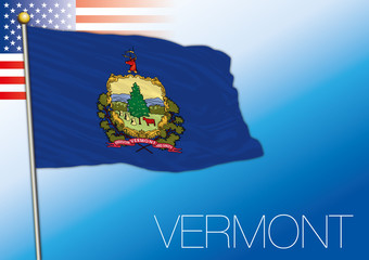 Vermont federal state flag, United States