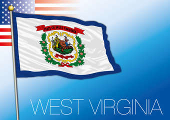 West Virginia federal state flag, United States
